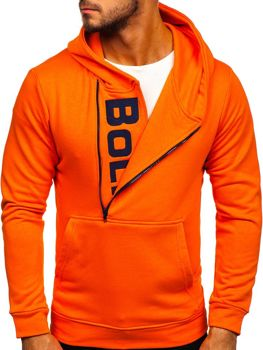 Men's Printed Hoodie Orange Bolf 01