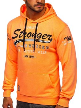 Men's Printed Hoodie Orange Bolf 146159