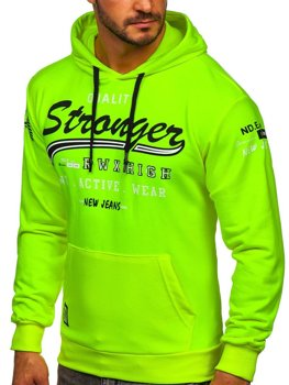 Men's Printed Hoodie Yellow Bolf 146159