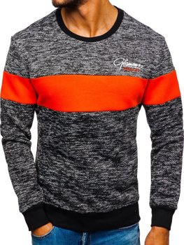 Men's Printed Sweatshirt Orange Bolf KS1895