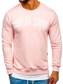 Men's Printed Sweatshirt Pink Bolf 11114