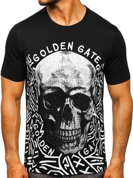 Men's Printed T-shirt Black Bolf KS7332