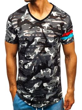 Men's Printed T-shirt Camo-Grey Bolf 309