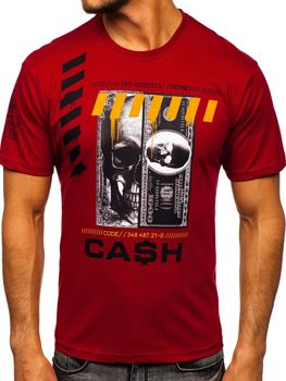 Men's Printed T-shirt Claret Bolf 14315