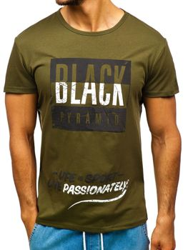 Men's Printed T-shirt Green Bolf 100683