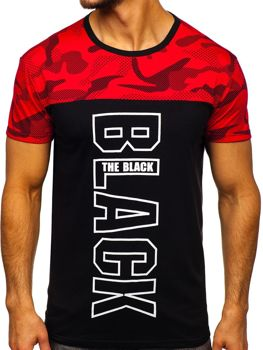 Men's Printed T-shirt Red Bolf 10859