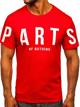 Men's Printed T-shirt Red Bolf 1180