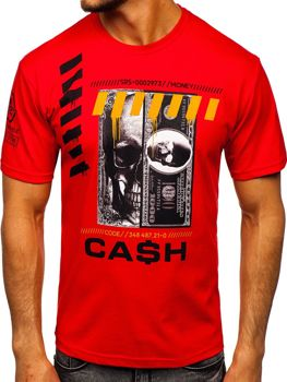 Men's Printed T-shirt Red Bolf 14315