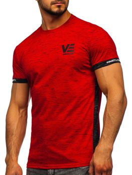 Men's Printed T-shirt Red Bolf SS11123