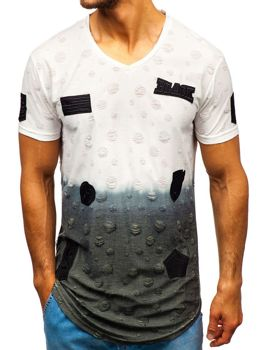 Men's Printed T-shirt White Bolf 318