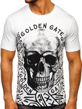 Men's Printed T-shirt White Bolf KS7332