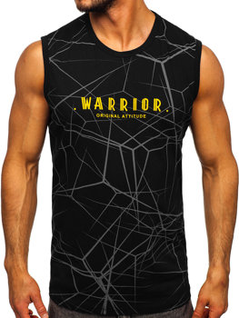 Men's Printed Tank Top Black Bolf 14813