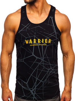 Men's Printed Tank Top Black Bolf 14845