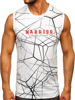 Men's Printed Tank Top White Bolf 14813