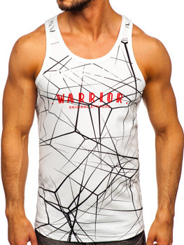 Men's Printed Tank Top White Bolf 14845