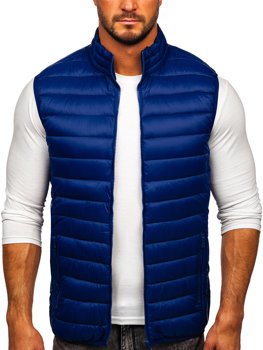 Men's Quilted Gilet Navy Blue Bolf LY32