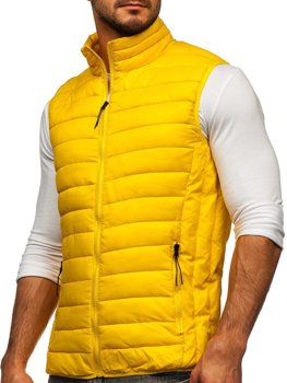 Men's Quilted Gilet Yellow Bolf HDL88001