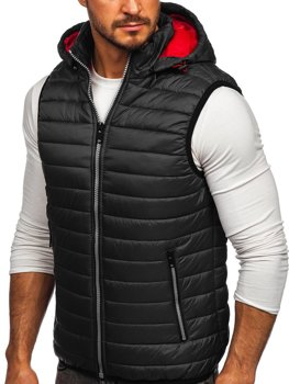 Men's Quilted Hooded Gilet Graphite Bolf 6701