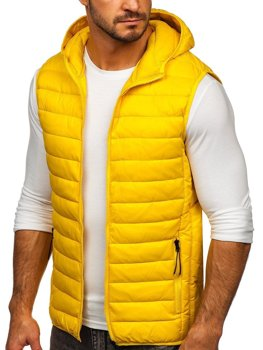 Men's Quilted Hooded Gilet Yellow Bolf HDL88002