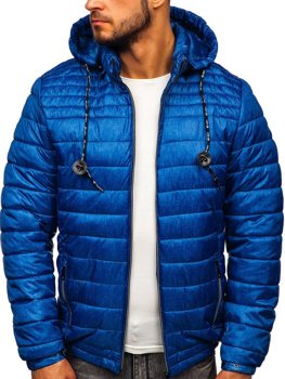 Men's Quilted Transitional Down Jacket Blue Bolf 50A411