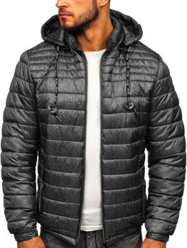 Men's Quilted Transitional Down Jacket Graphite Bolf 50A411