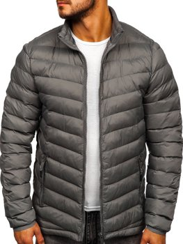Men's Quilted Transitional Down Jacket Graphite Bolf SM70
