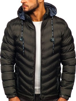 Men's Quilted Transitional Down Jacket Khaki Bolf 50A255