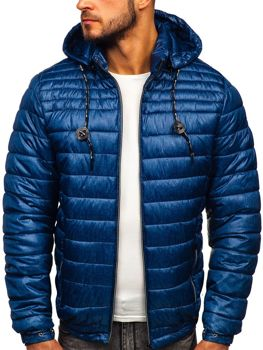 Men's Quilted Transitional Down Jacket Navy Blue Bolf 50A411