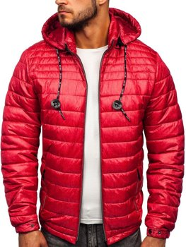 Men's Quilted Transitional Down Jacket Red Bolf 50A411