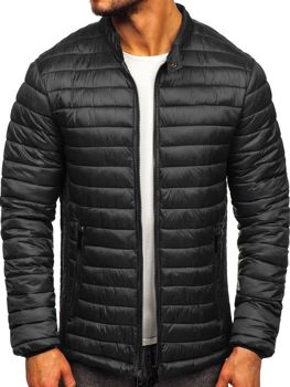 Men's Quilted Transitional Jacket Black Bolf 1138