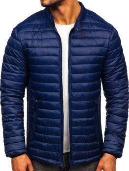 Men's Quilted Transitional Jacket Navy Blue Bolf 1138