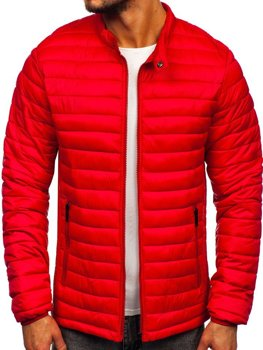 Men's Quilted Transitional Jacket Red Bolf 1138
