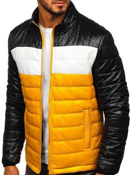 Men's Quilted Transitional Jacket Yellow Bolf 6111