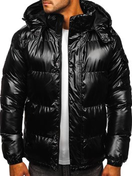 Men's Quilted Winter Jacket Black Bolf 1165