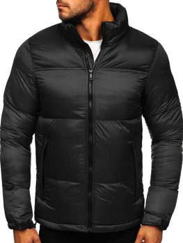 Men's Quilted Winter Jacket Black Bolf 1186