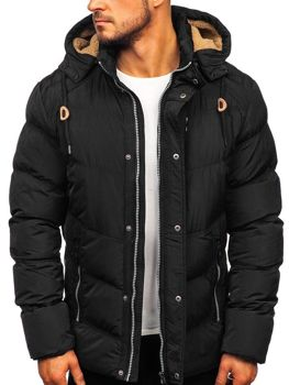 Men's Quilted Winter Jacket Black Bolf 1664