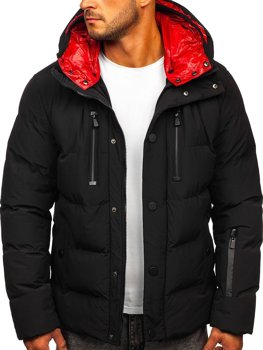 Men's Quilted Winter Jacket Black Bolf J1903