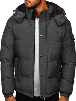 Men's Quilted Winter Jacket Graphite Bolf 1166