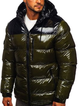 Men's Quilted Winter Jacket Green Bolf 6462