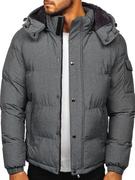Men's Quilted Winter Jacket Grey Bolf 1166