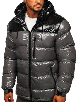 Men's Quilted Winter Jacket Grey Bolf 6462