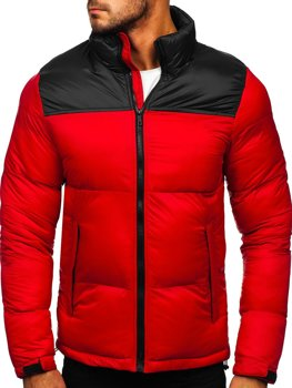 Men's Quilted Winter Jacket Red Bolf 1186