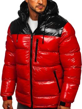 Men's Quilted Winter Jacket Red Bolf 6462