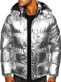 Men's Quilted Winter Jacket Silver Bolf 1165