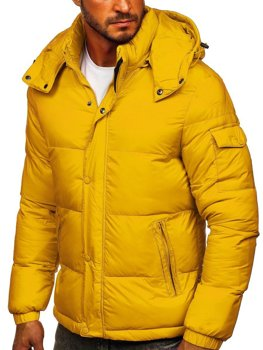 Men's Quilted Winter Jacket Yellow Bolf 1161