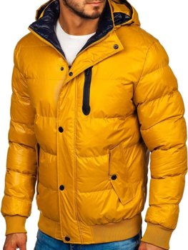 Men's Quilted Winter Jacket Yellow Bolf 5839