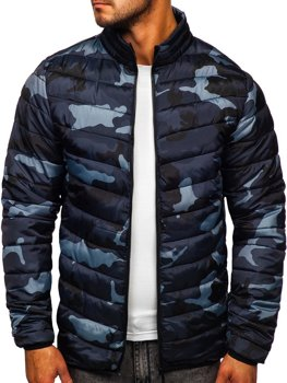 Men's Quilted Winter Sport Jacket Camo-Graphite Bolf SM32