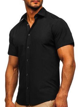 Men's Short Sleeve Shirt Black Bolf 17501