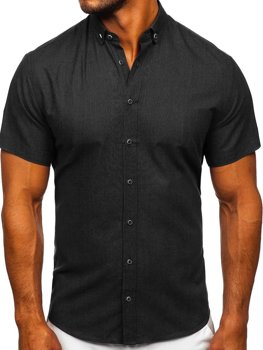 Men's Short Sleeve Shirt Black Bolf 20501