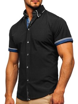 Men's Short Sleeve Shirt Black Bolf 2911-1
